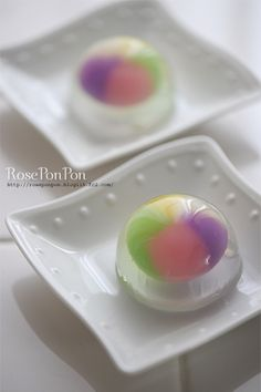 Japanese sweets, Wagashi Kamifusen 紙風船 Paper balloons