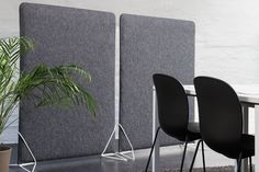A sound absorbing partition made using the textile 'Adora'. Felt Screen has a steel frame, acoustic fiber filling and a felt cover of wool. It easily slips into the unique steel feet. Floor Screen, Felt Cover, Sound Absorbing, New Environment, Dark Beige, Steel Frame, Acoustic, Fiber, Flooring