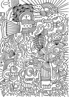 hard coloring page 23 ez coloring pages - Hard Coloring Books