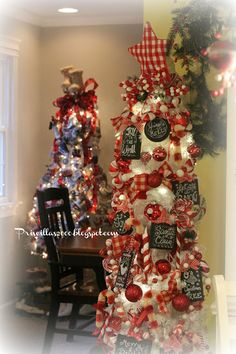 Priscillas: Chalkboards and Candy Canes Kitchen Tree