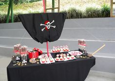 pirate themed dessert table