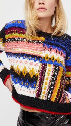 36 Ideas Crochet Sweater Circle Fashion Outfits For 2019 Cool Sweaters, Sweaters For Women, Knit Fashion, Fashion Outfits, Circle Fashion, Pulls, Latest Fashion Trends, Knit Crochet, Knitwear