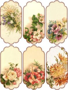 Floral Tags June:
