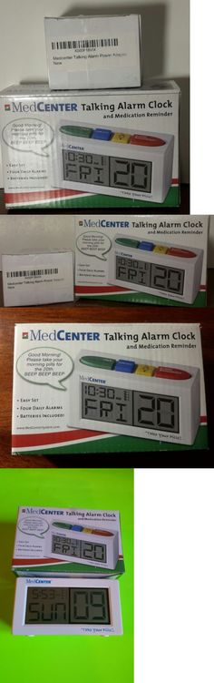 Alarm Clocks 79643: Nib Medcenter Talking Alarm Clock With Medication Reminder With A.C. Adapter -> BUY IT NOW ONLY: $37.99 on eBay!