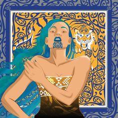 'Multi-Culture-Altruism' by onesian Polynesian People, Polynesian Art, Maori Designs, New Zealand Art, Nz Art, Maori Art, Kiwiana, Art Carved, Cool Art