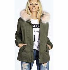 boohoo Edy Pink Faux Fur Trim Luxe Parka - khaki azz24900 Updated with pastel pink fur, this parka coat does classic khaki with a new season spin. Layer up and wear it over a chunky knit , with skinny jeans and Chelsea boots . http://www.comparestoreprices.co.uk/womens-clothes/boohoo-edy-pink-faux-fur-trim-luxe-parka--khaki-azz24900.asp