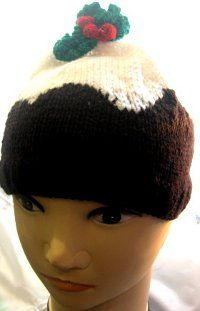 Christmas pudding knit hat