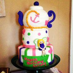 "Sailor's 5th ""Fairy Princess Tea Party"" birthday cake"