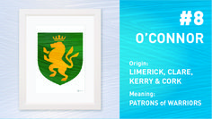 The Top Ten Most Popular Irish Surnames from Painted Clans. Hand painted Irish coat of arms with a modern twist. Irish Coat Of Arms, Irish Roots, Irish Men, Surnames, Most Popular, Top Ten, Anniversary Gifts, Meant To Be, Hand Painted