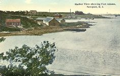 View of Fort Adams, circa 1920. Fort Adams in Newport, RI, was established July 4, 1799. After the War of 1812, a review of the nation's forts determined it necessary to replace Fort Adams with a larger fort. Construction of the new fort began in 1824 and continued until 1857. The fort was in use from 1841 through 1950. In 1965, the fort became a state park and in 1994 the Fort Adams Trust was founded to maintain and offer tours of the fort. Discover more history @ www.thehistorygirl.com