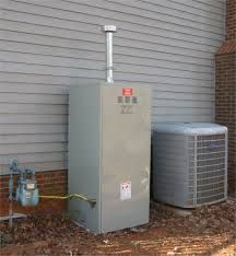 Depiction of outdoor water heater enclosure to protect and - Exterior hot water heater enclosure ...