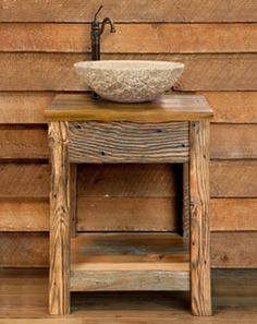 small sink & vanity for small bathroom : barnwood incorp