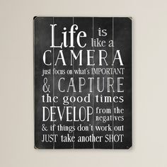Life is Like a Camera Wall Decor & Reviews | Joss & Main