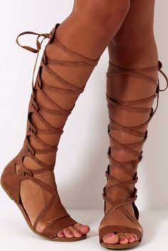 New Fashion Women Lace-up Suede Leather Flat Sandal Boots Gladiator Boots Beach Shoes summer over the knee boots Stretch Knee High Boots, Knee High Stiletto Boots, Over The Knee Boots, Lace Up Gladiator Sandals, Leather Sandals Flat, Suede Leather, Pewter Shoes, Beach Shoes, Summer Shoes