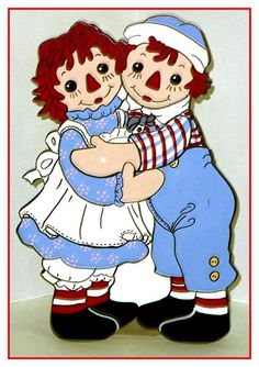Raggedy Ann and Andy Clip Art Cartoon Caracters, Baby Congratulations Card, Ann Doll, Raggedy Ann And Andy, Holly Hobbie, Stone Crafts, Comic Book Characters, Vintage Valentines, Cartoon Images