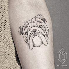bulldog by Bicem – Sinik, Istanbul, Turkey | dog tattoos