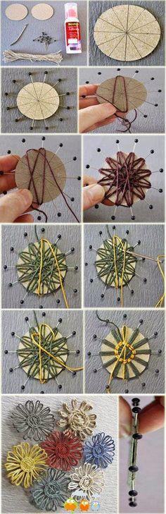 Ötletes Blog: Készítsünk szatyorból virágot