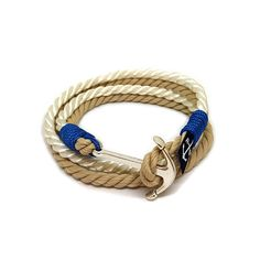 Buy directly from the world's most awesome indie brands. Or open a free online store. Nautical Bracelet, White Rope, Indie Brands, Everyday Look, Handmade Bracelets, Take That, Trending Outfits, Unique Jewelry, Stuff To Buy