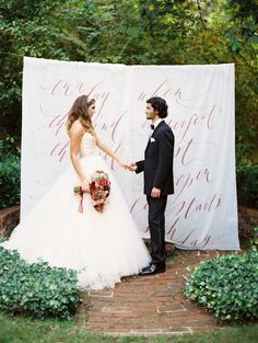 calligraphed ceremony backdrop - wow!!!