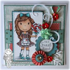 The Paper Nest: Heart Lollipop Avery by DT Tracey Wray @copicsketch @thepapernest @stamps