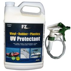Flitz Marine/RV UV Protectant w/SPF 50 - 1 Gallon (128oz) Refill - https://www.boatpartsforless.com/shop/flitz-marinerv-uv-protectant-wspf-50-1-gallon-128oz-refill/