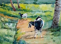 Mother And Child by Artist - Raji P Mother And Child Painting, Painting For Kids, Wildlife Paintings, Landscape Paintings, Radha Krishna Love Quotes, Online Painting, Paintings For Sale, Online Art Gallery, This Is Us