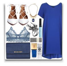 """Sin título #677"" by teresapulido ❤ liked on Polyvore featuring Only Hearts, Topshop, Yves Saint Laurent, Mulberry, Lucky Brand, Falke and Butter London"