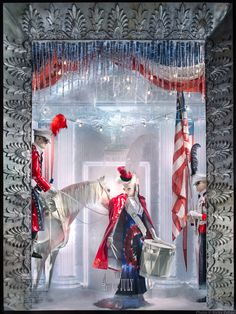 This year the windows were inspired by American holidays. It took 100 people to create the masterpieces. | The Bergdorf Goodman Holiday Windows Are Up, And Holy Hell They're Beautiful