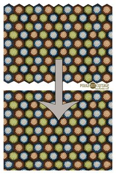 How to make a straight edge on a hexagon blanket. Tutorial by Polka Dot Cottage