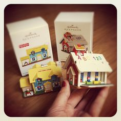 Miniature Fisher-Price toys as Hallmark ornaments. Fisher Price Toys, Vintage Fisher Price, Childhood Toys, Childhood Memories, Christmas Decorations, Christmas Ornaments, Hallmark Ornaments, Mini Things, Miniture Things
