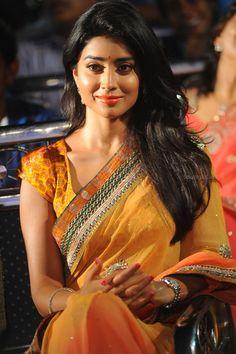 Shriya Saran in Saree At Pavitra Telugu Movie Music Launch at Shriya Saran In Bridal Saree at Music Release  #ShriyaSaran