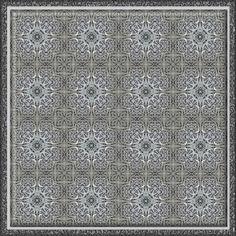 Metallic Maze Kaleidoscope Tile No 1 by candy