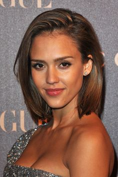 Jessica Alba. Love her make-up in this photo. Flawless and effortless looking, yet very put together.