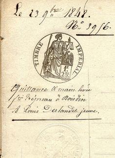 Antique French Sepia Script Document