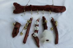Driftwood Mobile Christmas DecorUnique by CrystalsSeaglass on Etsy, $22.00