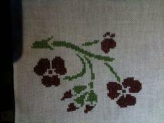 Kreuzstichblüten für Karte