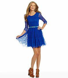 GB CageBack Lace Dress #Dillards