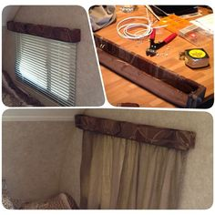 Trailer mod. Replaced blinds with custom curtains. #rpod August 22 ...