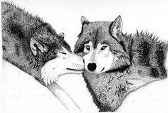 """The Enduring Kiss""   Original Pen & Ink by Steven Harris, ID"