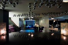 The Bar/Lounge & jazzy lights wall... Its definitely worth coming for a look & a drink!
