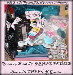 The Do It Yourself Lady: 1000 Followers Giveaway: Event 5 (GRAND FINALE) - Bunch of Goodies By Cheeky http://doityourselflady.blogspot.com/2012/07/1000-followers-giveaway-event-5-grand.html#comments