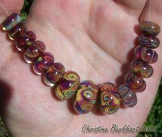 Spring Carnival Handmade Boro Lampwork Glass Bead by BurkhartBeads