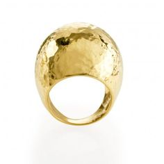 Ippolita: Hammered Dome Ring, 18k gold