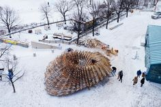 the hybrid hut by rojkind arquitectos takes shape for warming huts - designboom | architecture