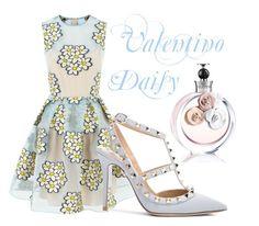 """Valentino: Daisy"" by ilikeplacki ❤ liked on Polyvore"