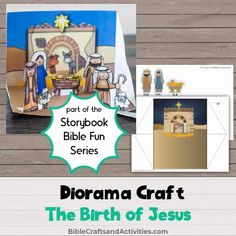 Simple diorama craft printable to print, cut, and glue for the Nativity Story Dolch Sight Word List, Sight Words List, Preschool Bible, Preschool Crafts, Advent Activities, The Nativity Story, Advent Season, Birth Of Jesus, Bible Crafts