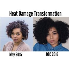 Heat damage transformation. Decided to take a major break from flat irons to let my curls come back to life. More over at YouTube.com/actuallyAshly