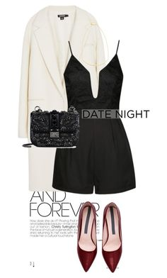 """""""daringly"""" by perilousness-fashion ❤ liked on Polyvore featuring DKNY, Ally Fashion, Rebecca Minkoff, Valentino, women's clothing, women, female, woman, misses and juniors"""