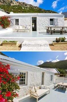 Experience the vibey, historical Kalk Bay in this lovely little cottage close to the various restaurants and stores this coastal town has to offer.   #Kalkbay #CapeTown #coastal #cottage #historical #SouthAfrica