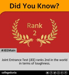 Joint Entrance Test ranks in the world in term of toughness Engineering Colleges In India, Top Colleges, Entrance, University, Entryway, Colleges, Doorway, Entrance Hall